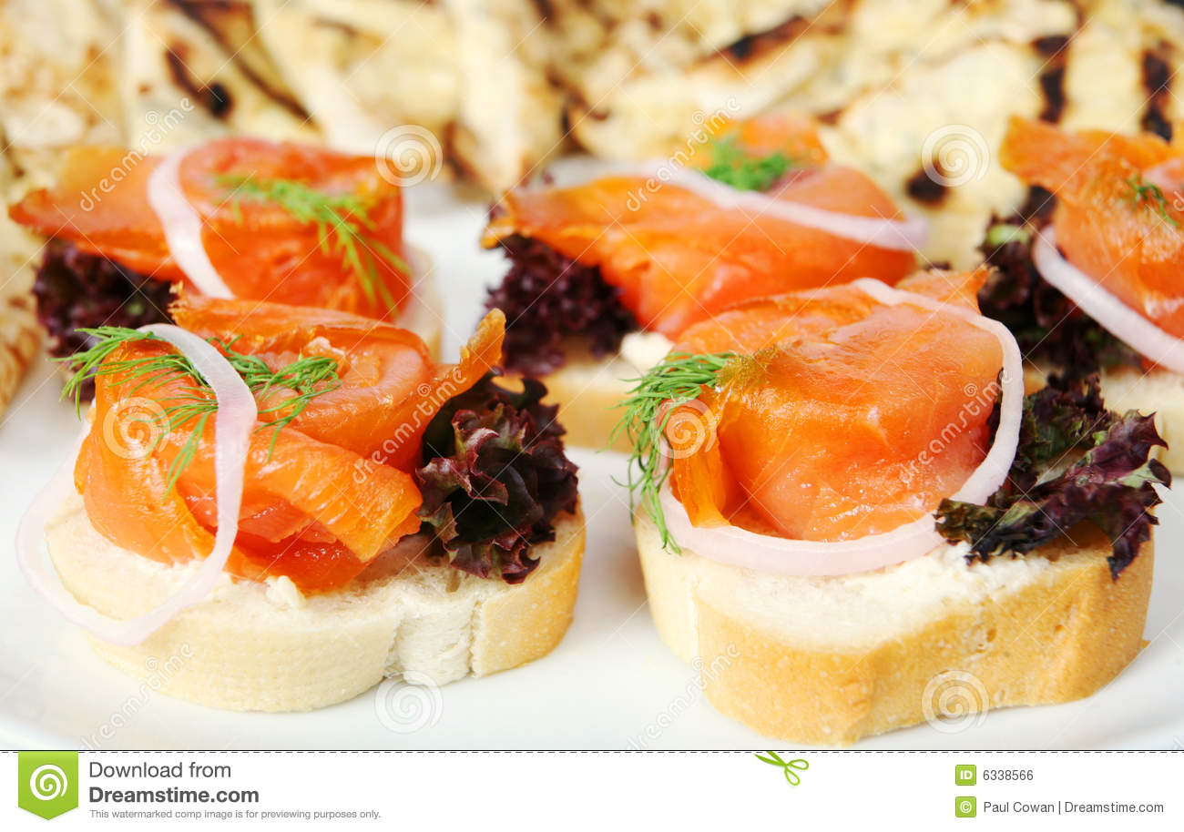 Smoked Salmon Canapes Royalty Free Stock Image - Image: 6338566