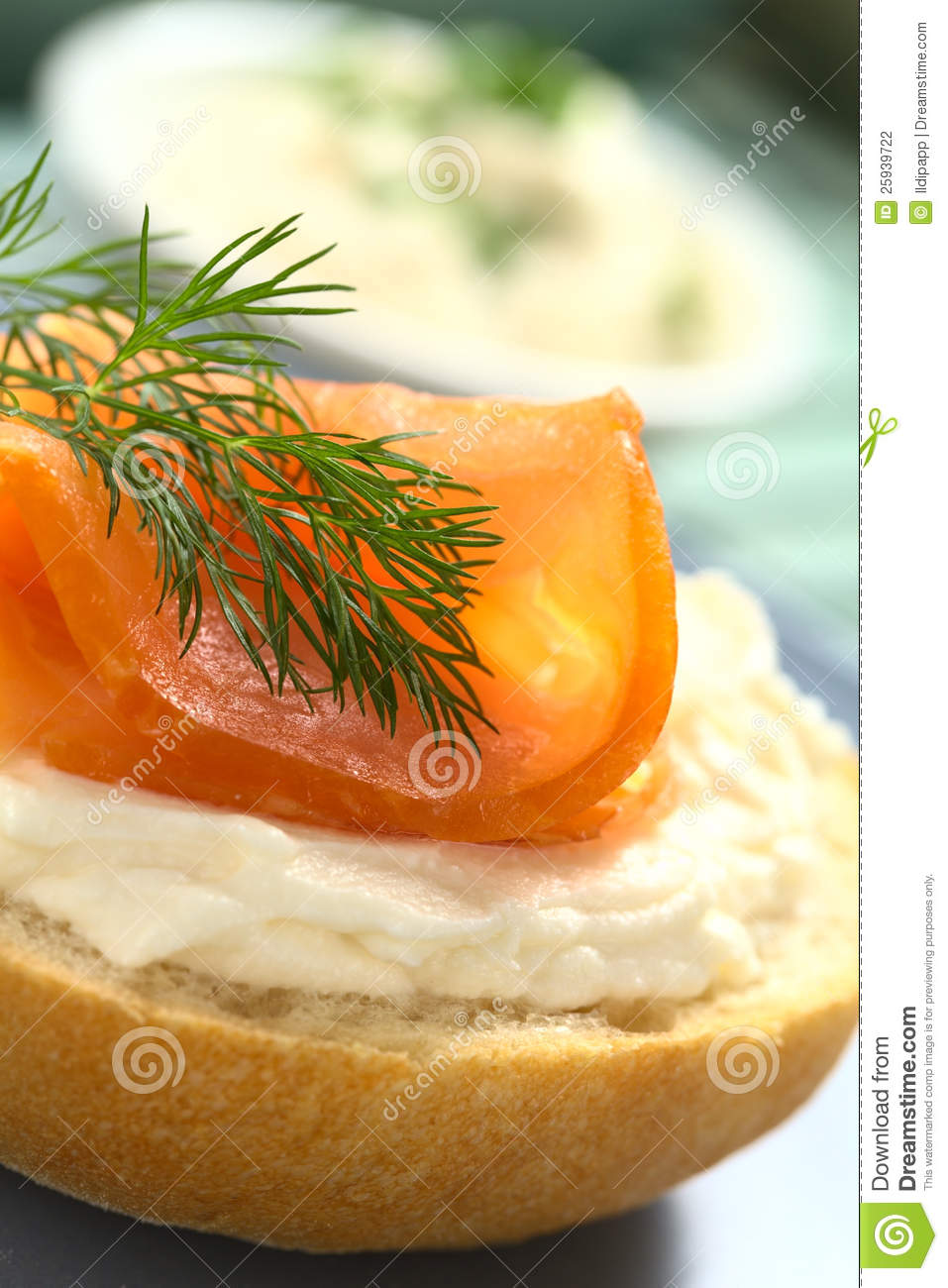 Smoked salmon and cream cheese canape stock photography for Smoked salmon cream cheese canape