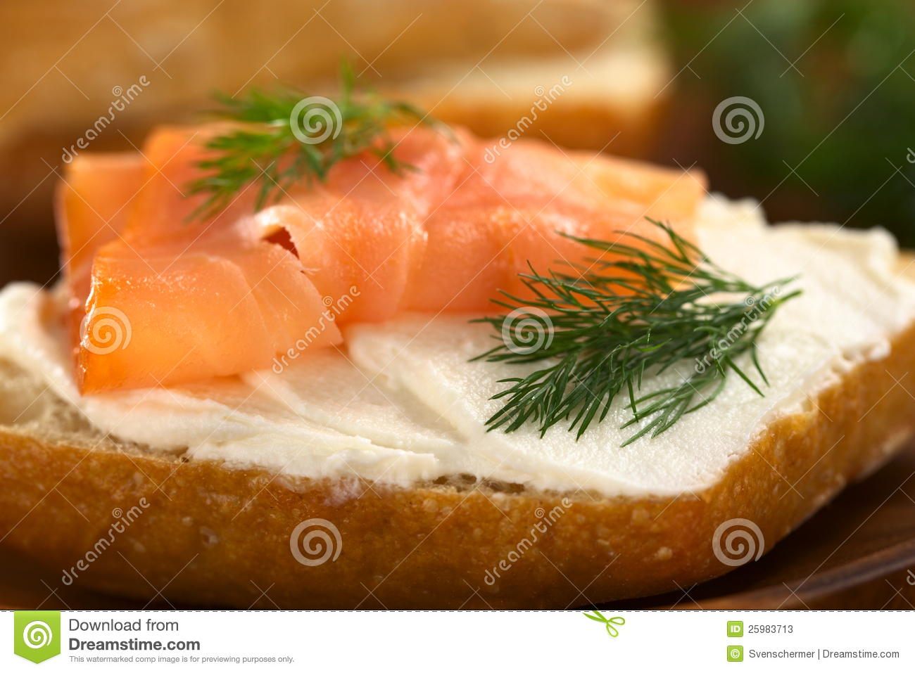 Smoked salmon and cream cheese canape stock photos image for Smoked salmon cream cheese canape