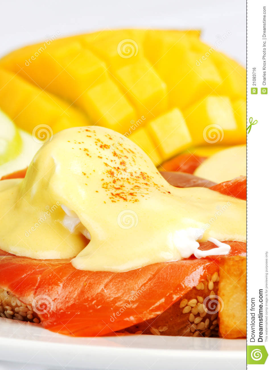 Smoked Salmon Eggs Benedict Royalty Free Stock Image - Image: 21083716