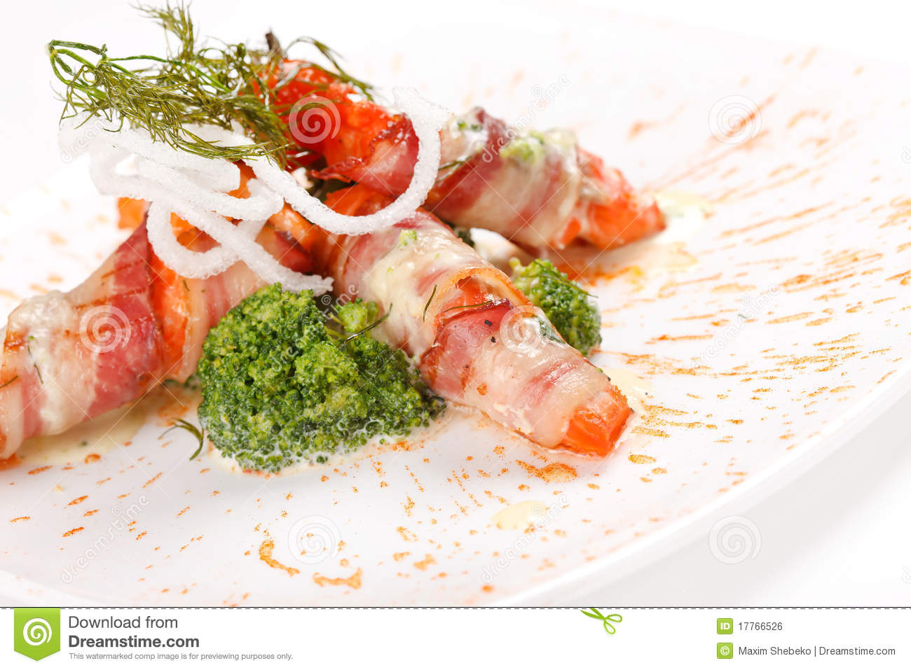 Smoked Salmon Rolls Royalty Free Stock Image - Image: 17766526