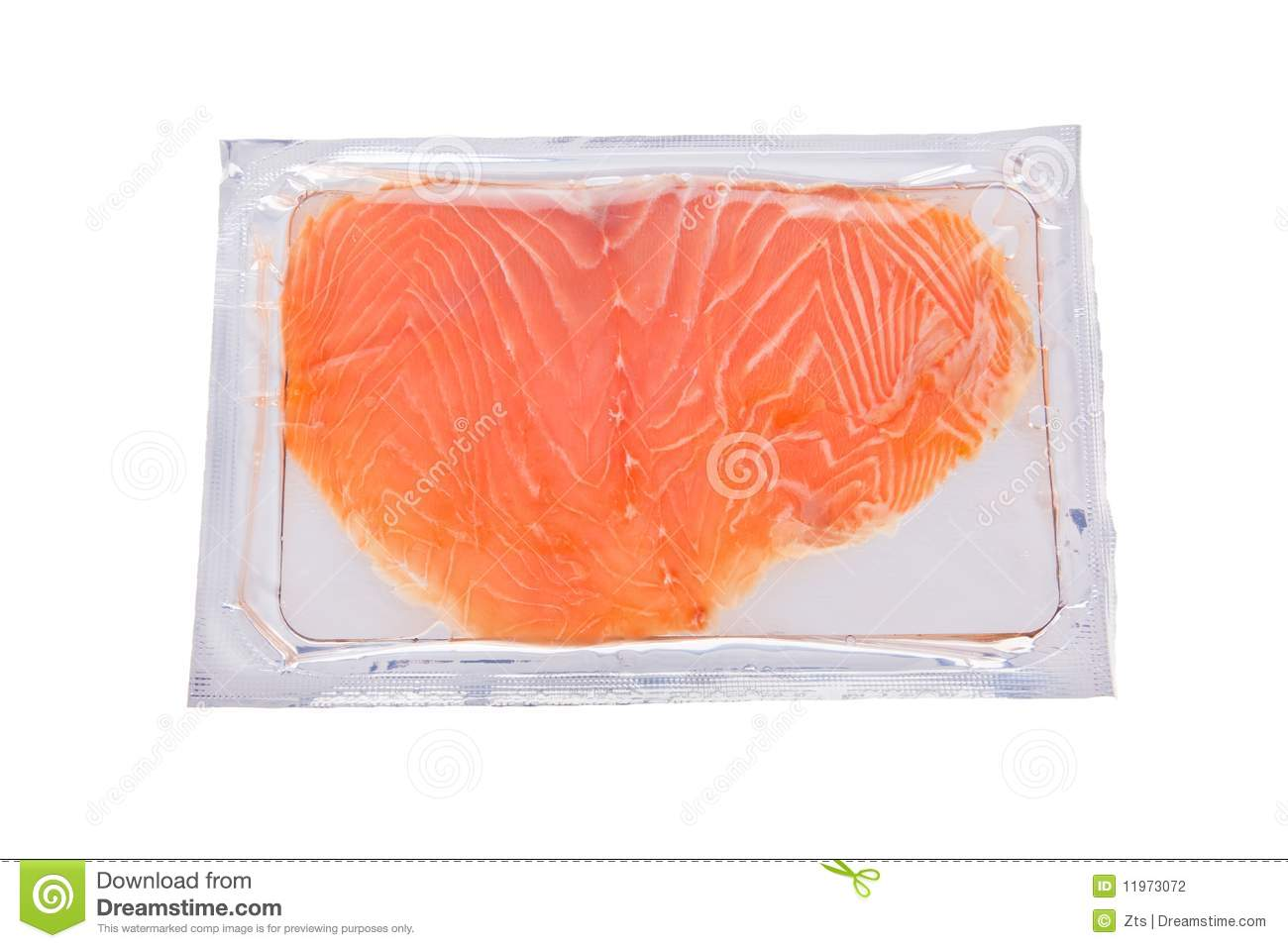 Smoked Salmon Slices In Package Isolated Stock Photography ...