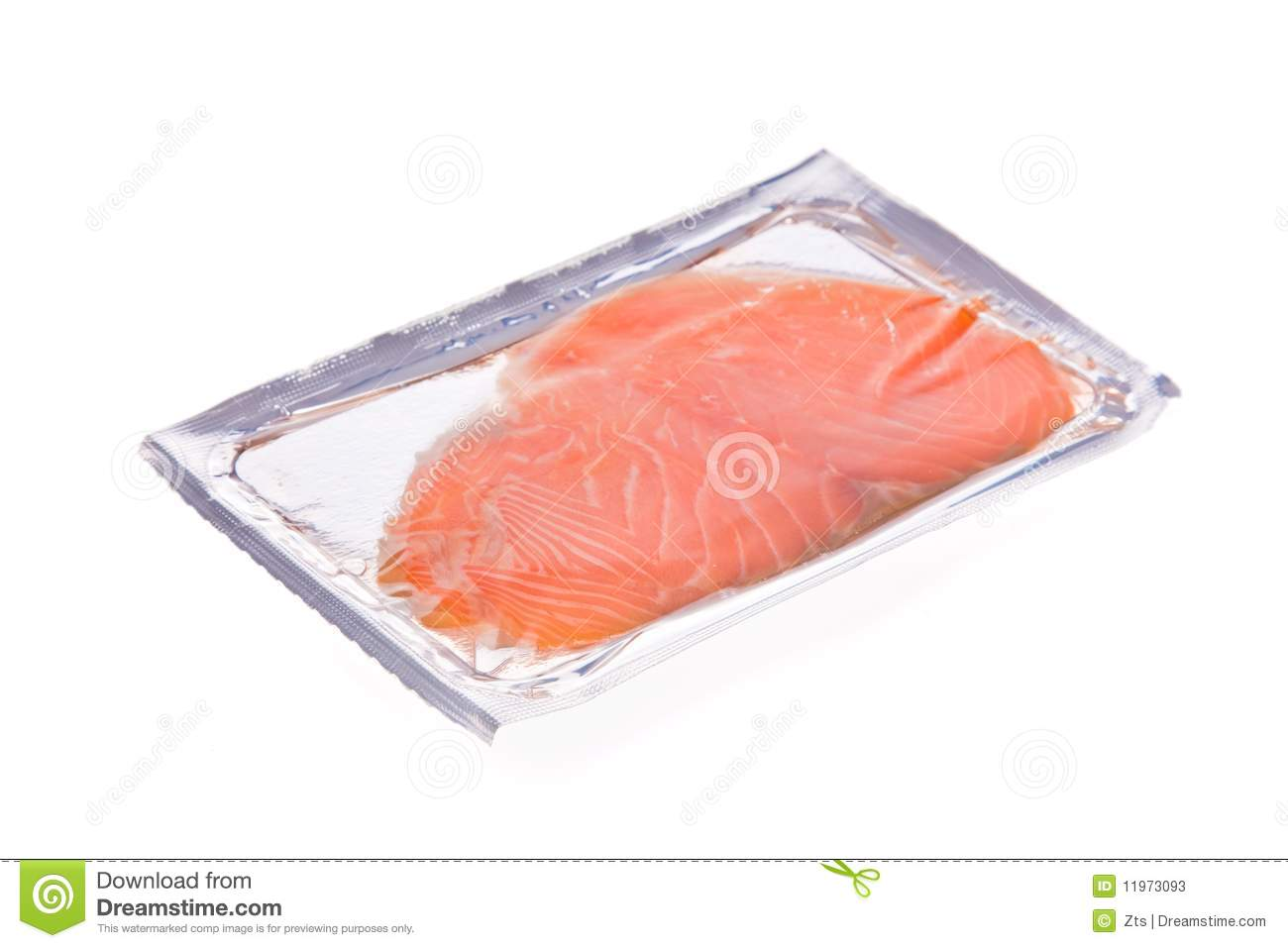 Smoked Salmon Slices In Package Isolated Stock Photos ...