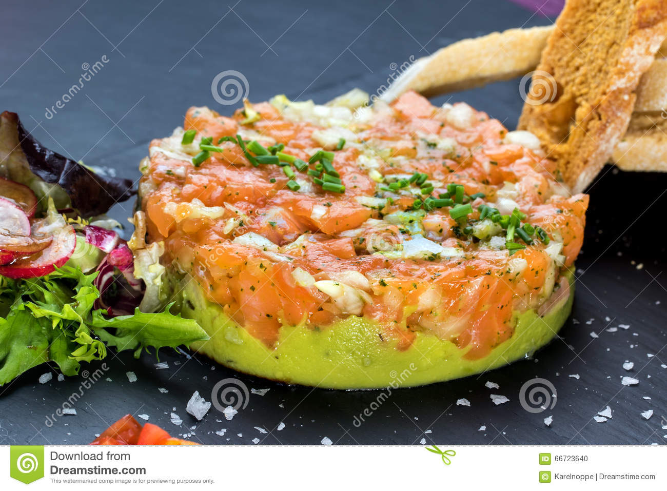 smoked salmon tartare stock photo image of catering