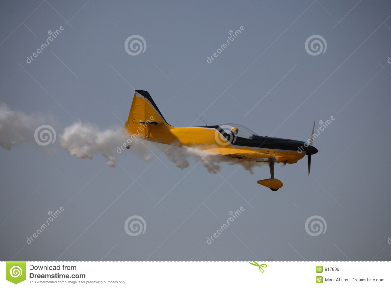 Smoking aircraft.