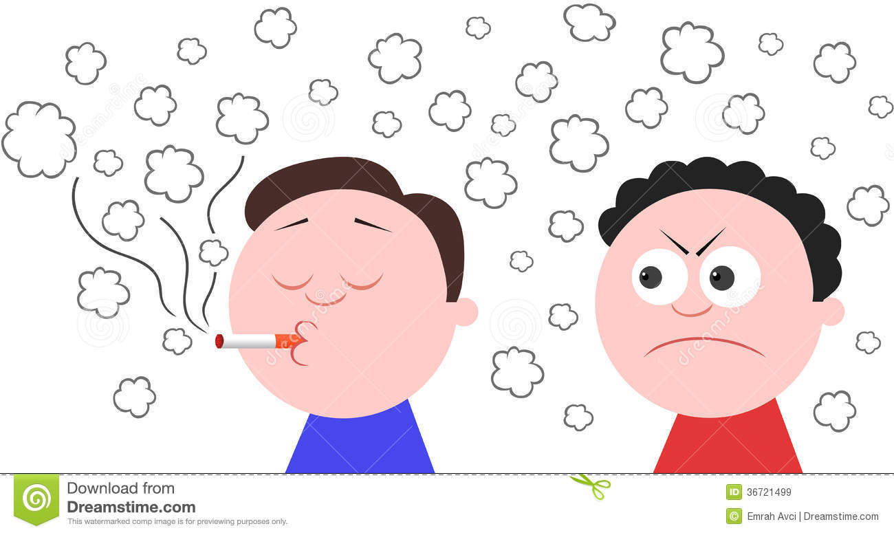 Smoking And Another Man Angry Royalty Free Stock Images