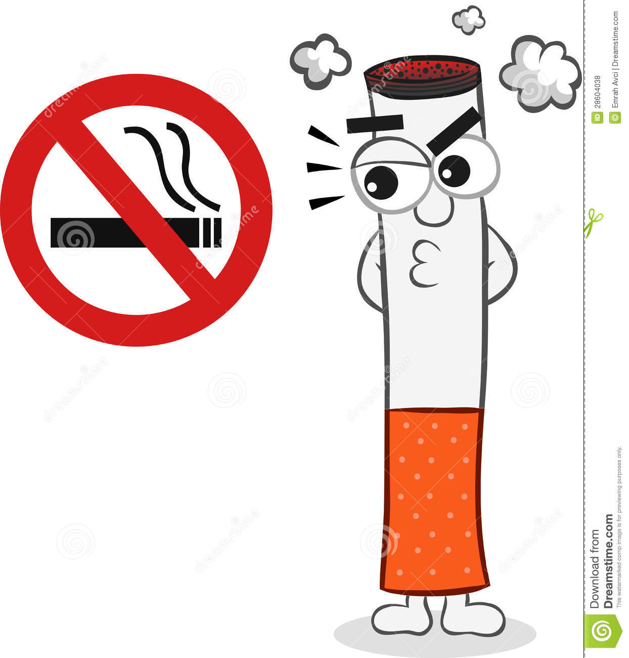 Cigarette Caricature smoking ban and cigarette cartoon stock vector - illustration of