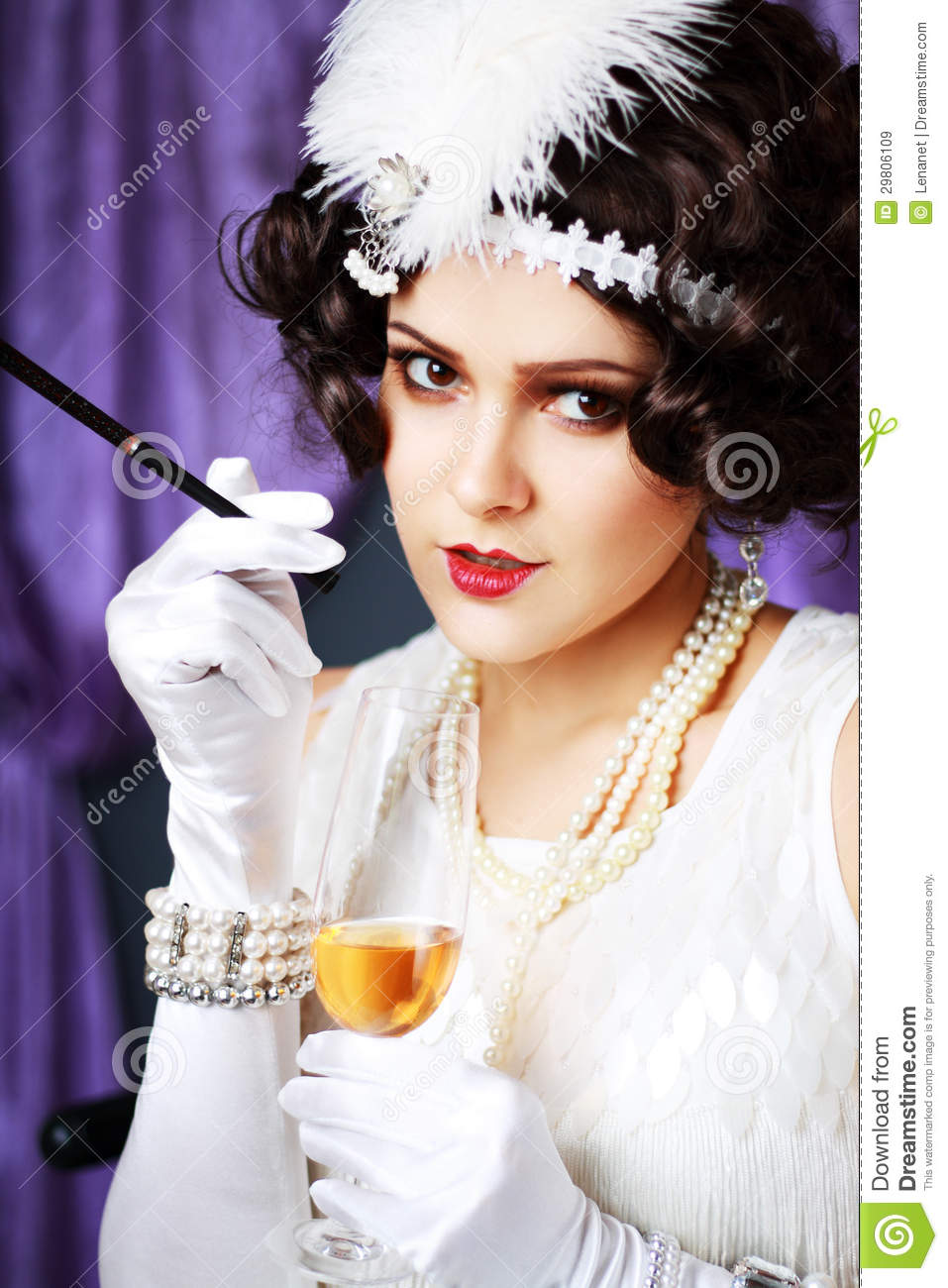 Retro Flapper Style Royalty Free Stock Images - Image ...