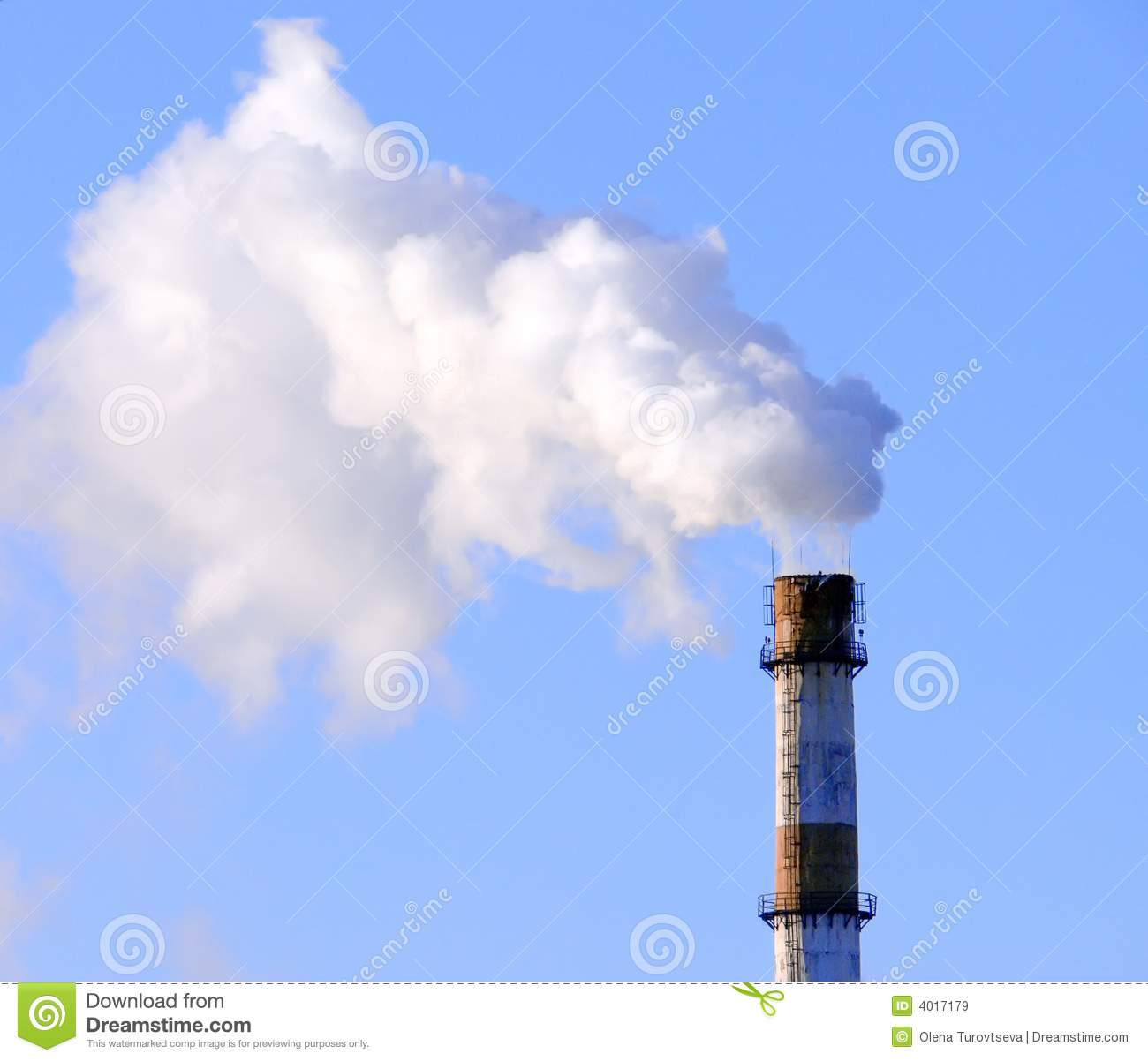 Smoking Factory Pipe Royalty Free Stock Images Image