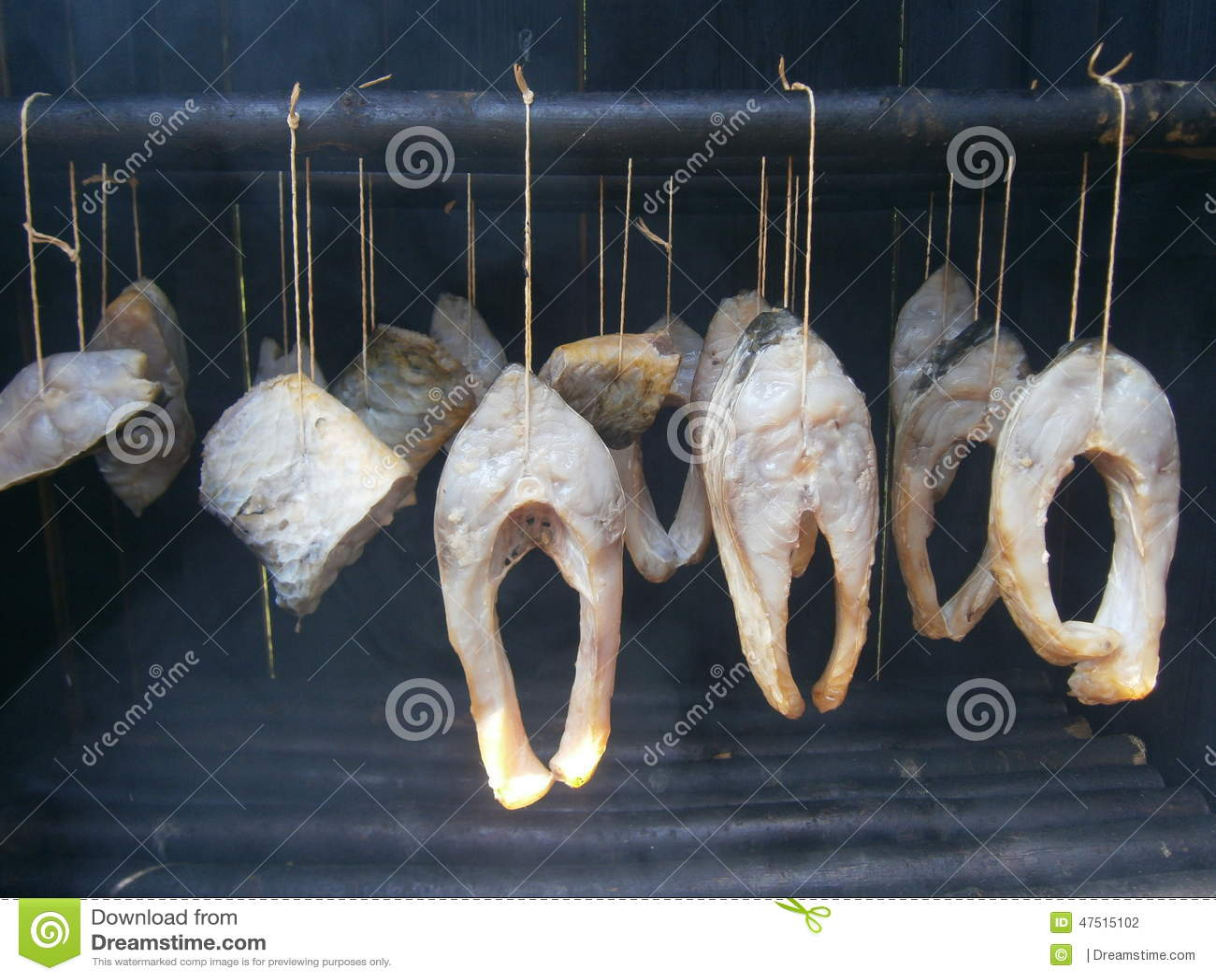 Smoking fish royalty free stock photography for Smoking fish in a smoker