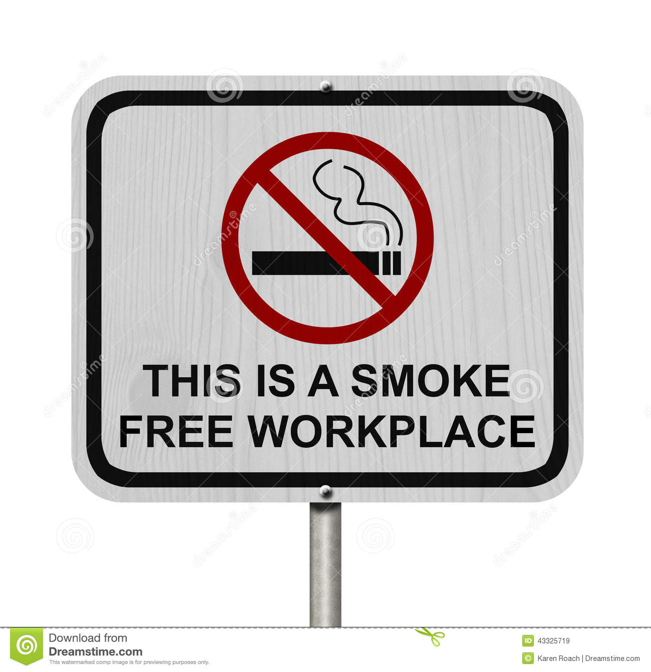 Smoking free workplace sign stock image image of sign abstain royalty free stock photo buycottarizona Images