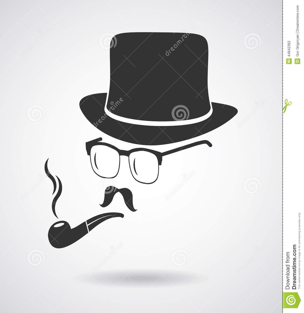 b248c866131bb6 Royalty-Free Vector. Smoking gentleman. Vintage design elements set like  icon