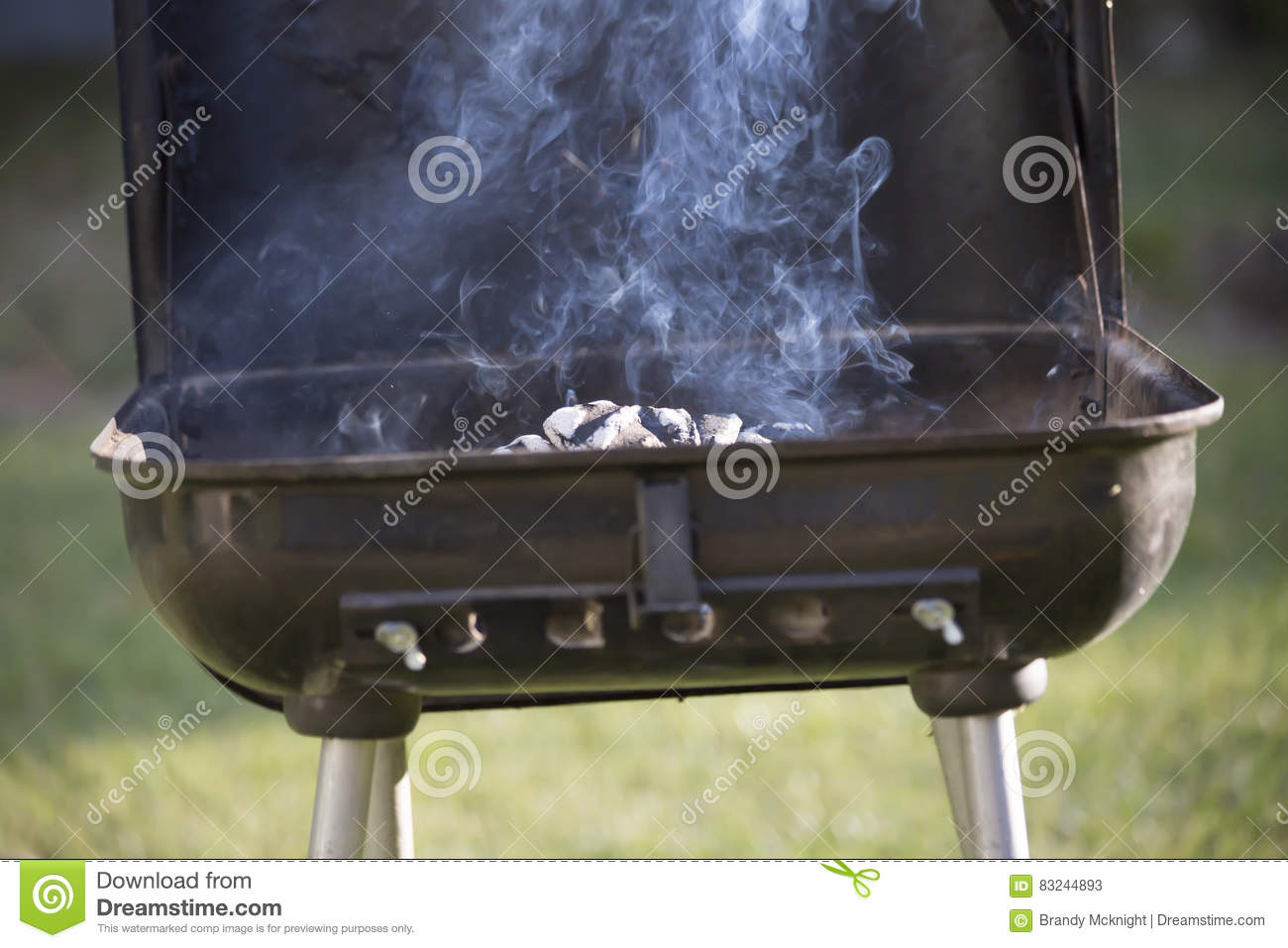 Smoking Grill Stock Image Image Of Closed Outdoor Equipment