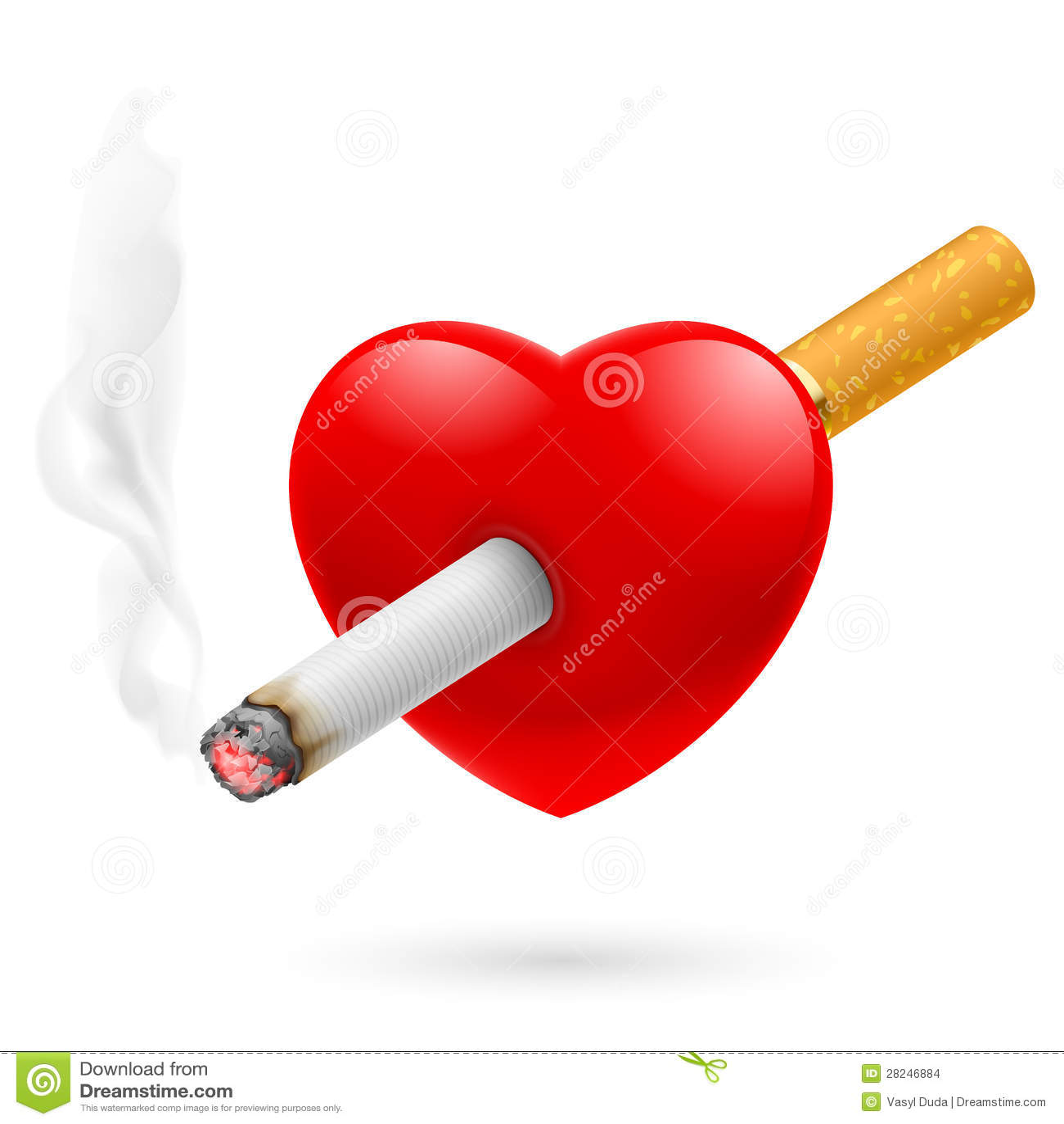 Smoking Kill Heart Stock Images - Image: 28246884