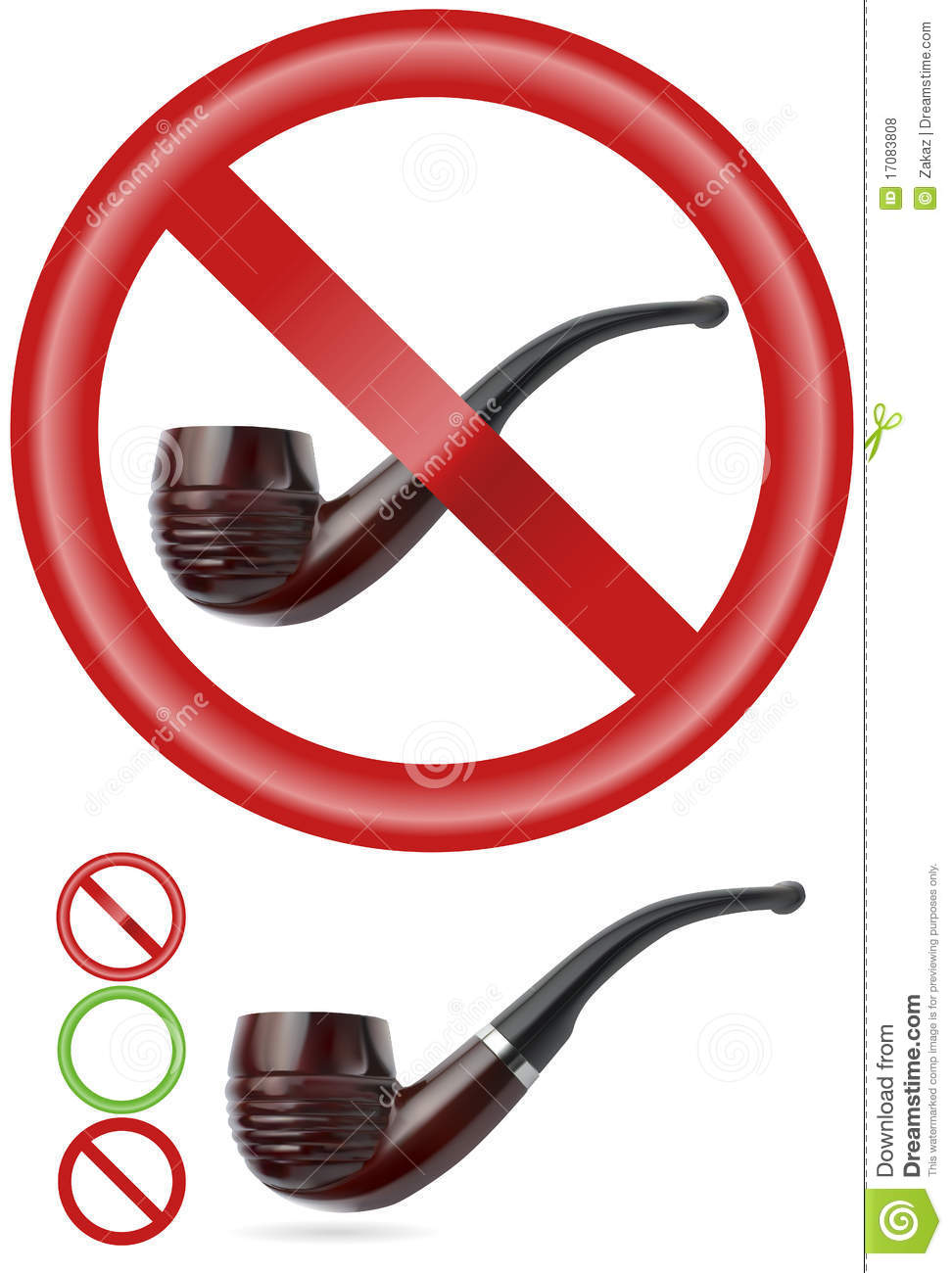 Smoking pipe with signs | Vector