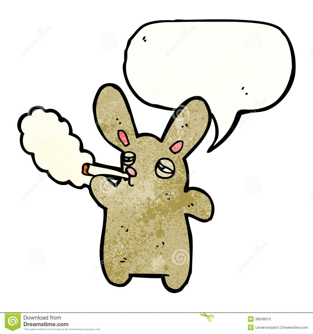 Smoking Rabbit Cartoon Royalty Free Stock Photo Image 38048015