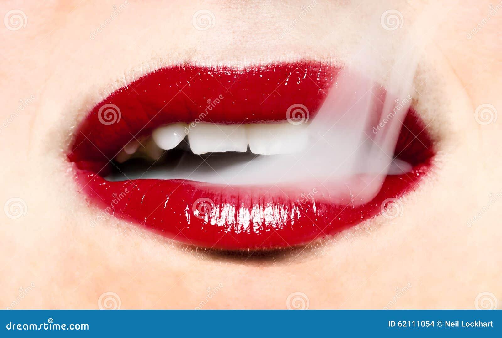 Smoking Red Lips