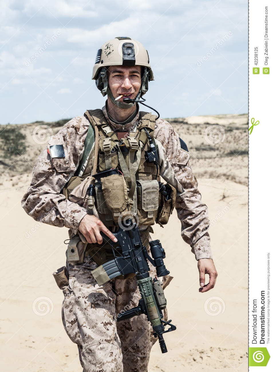 Smoking soldier stock image. Image of forces, american ...