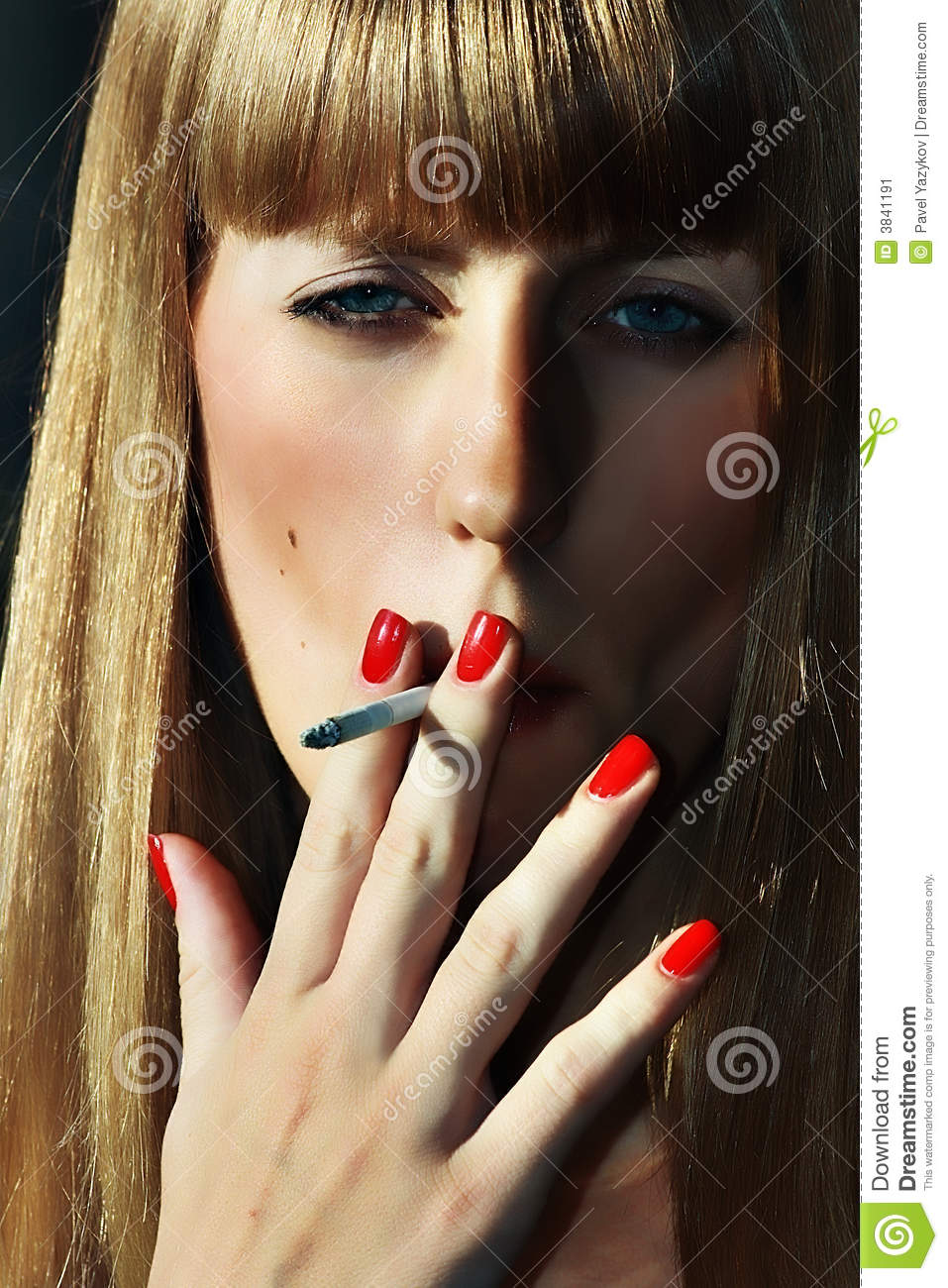 Funny Thank You Animation Smoking Women With Red...