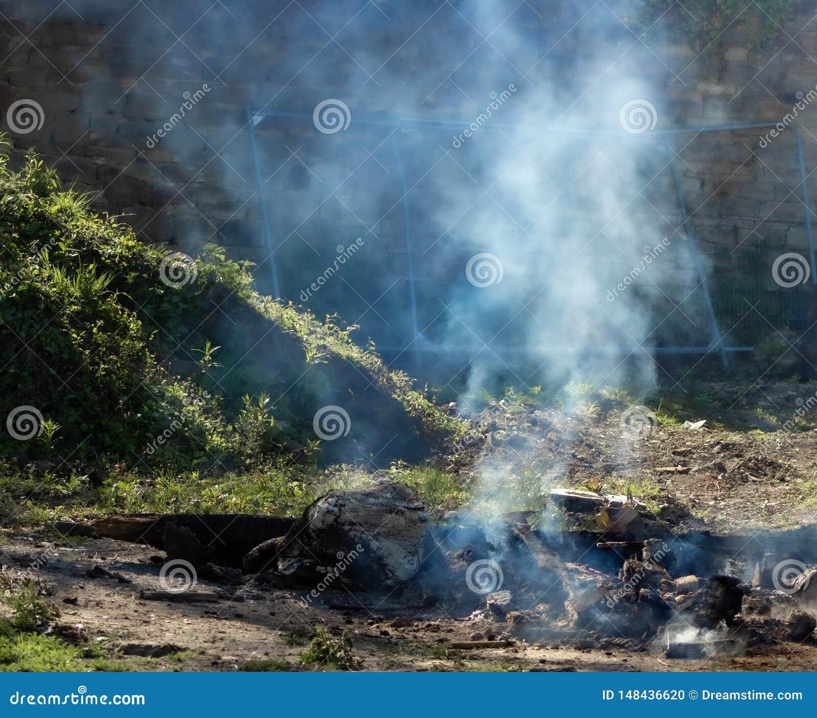 Smoky bonfire