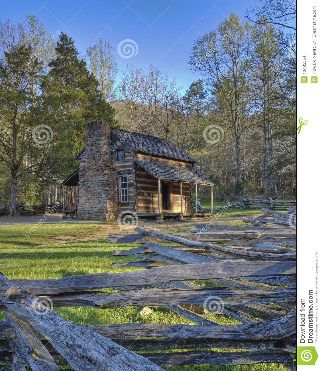 Smoky mountain cabin stock photo image of cabin park for Smoky mountain cottages