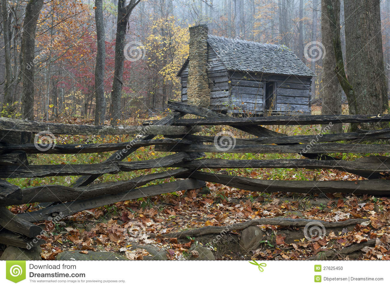 Smoky mountains restored rustic cabin stock photo image for Rustic mountain