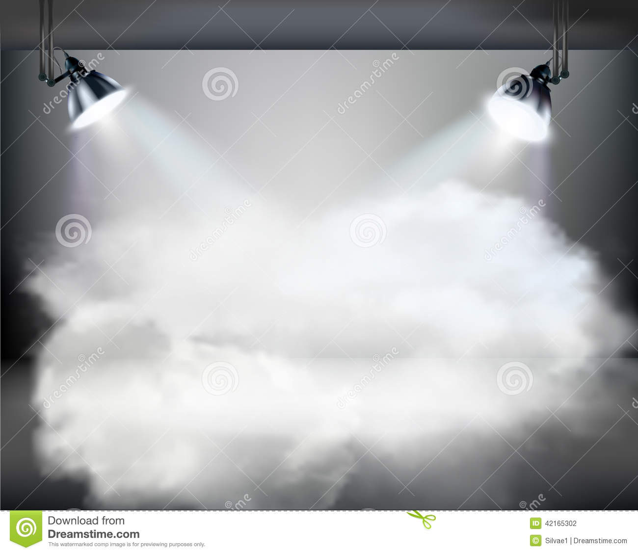 smoky stage  vector illustration  stock vector