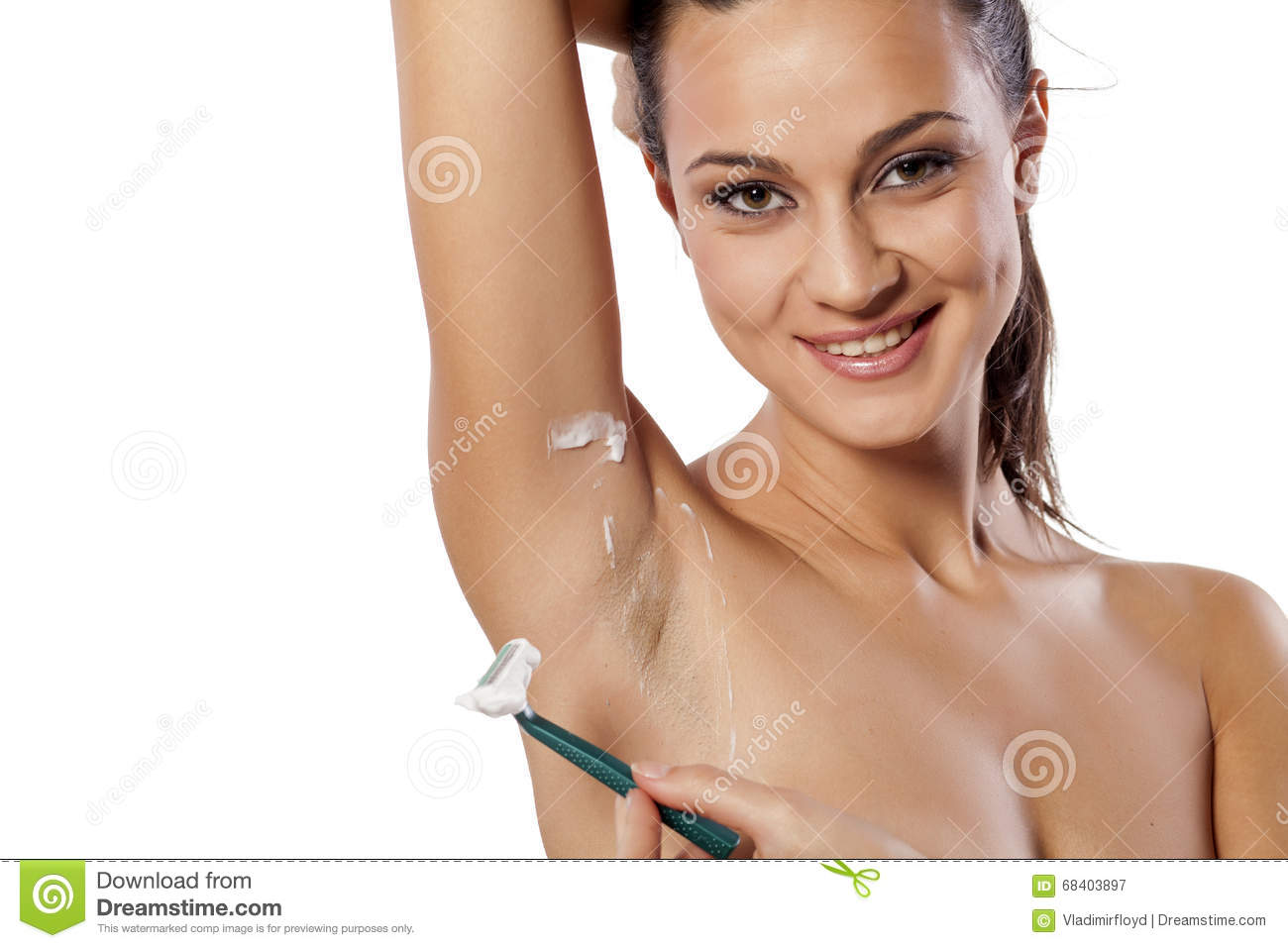 Shaved female armpit