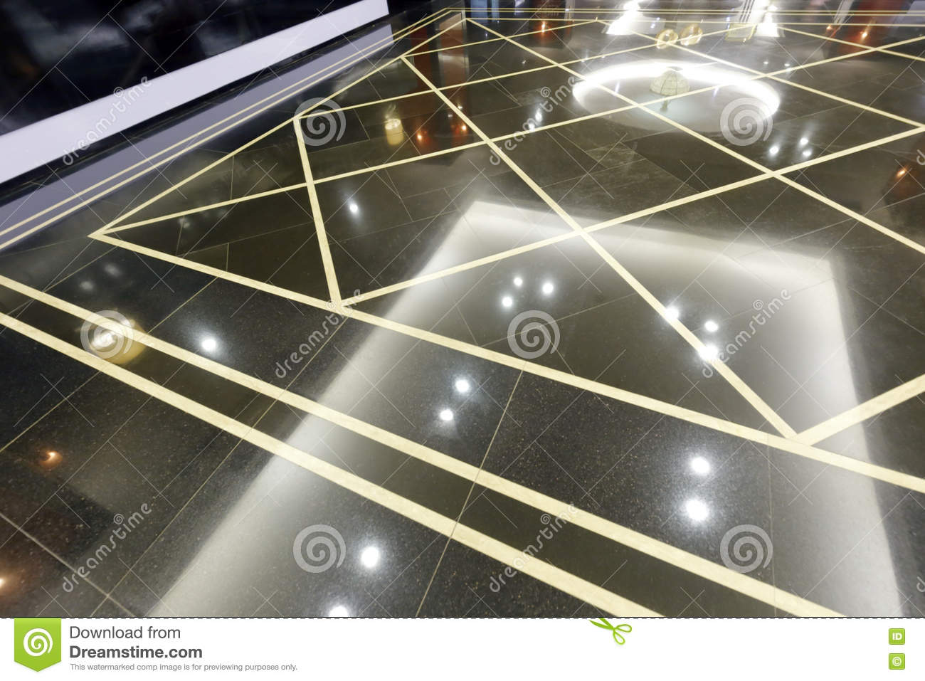 Smooth And Clean Granite Floor Stock Photo Image Of Office