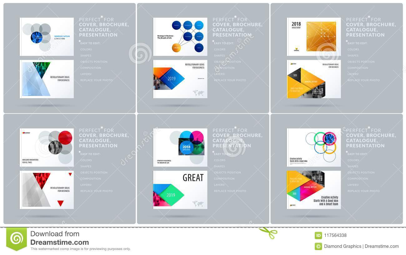 Smooth Design Presentation Template With Colourful Round Shapes