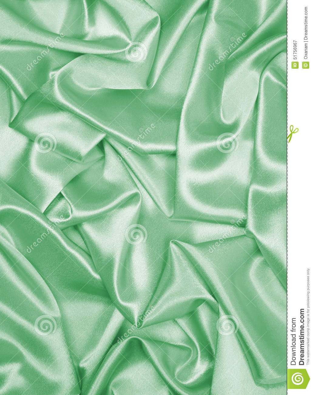smooth elegant green silk or satin as background stock