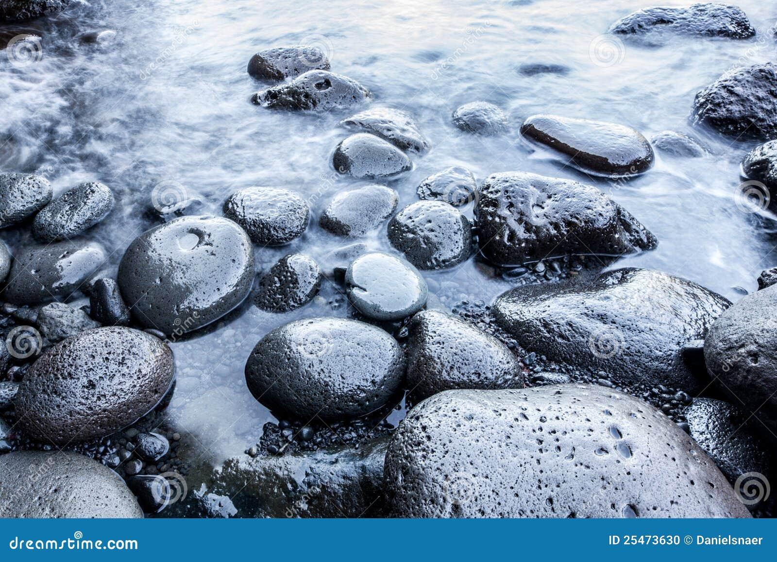 Smooth Pebble Stones Beach Stock Photo Image 25473630