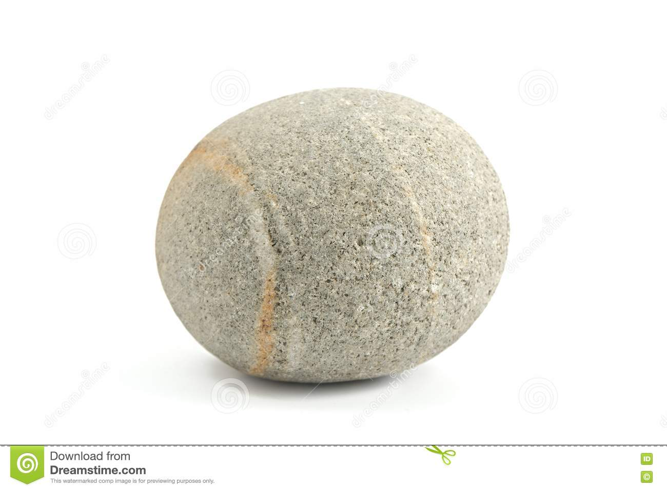 Marble Round Stone : Smooth round stone stock image of mineral rock