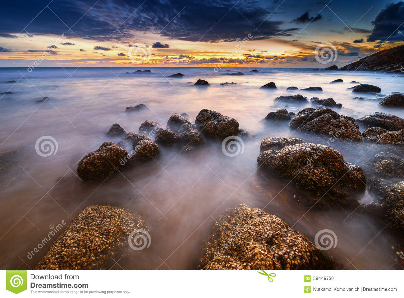 Smooth wave in evening