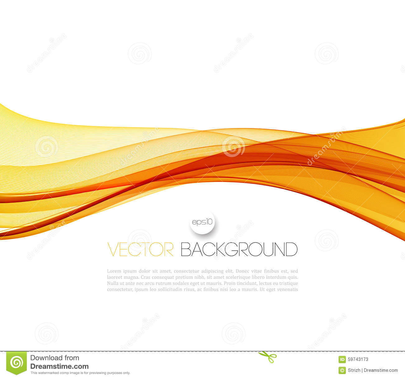 Curved Line Design : Smooth wave stream line abstract header layout stock