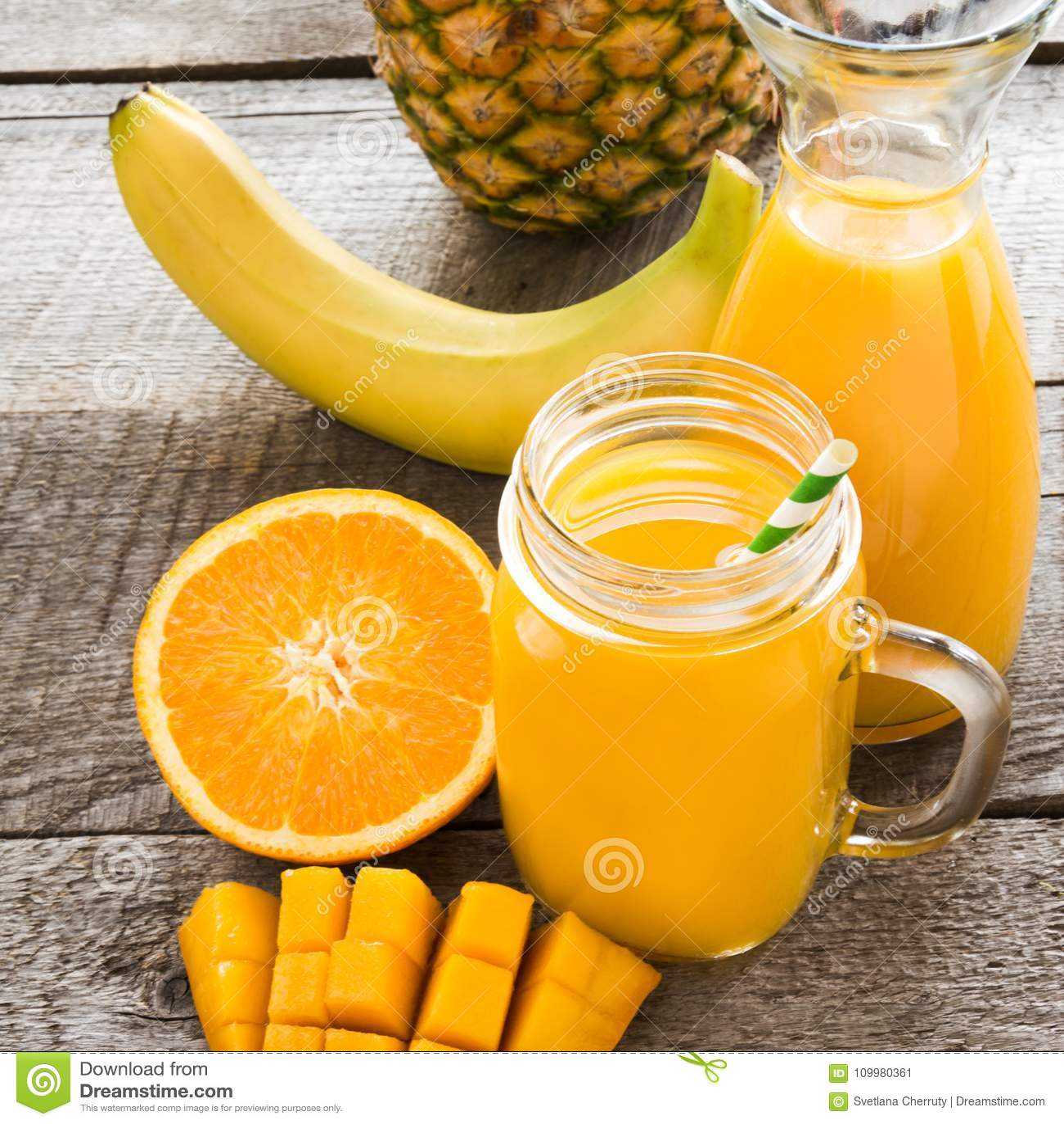 smoothie apelsin mango
