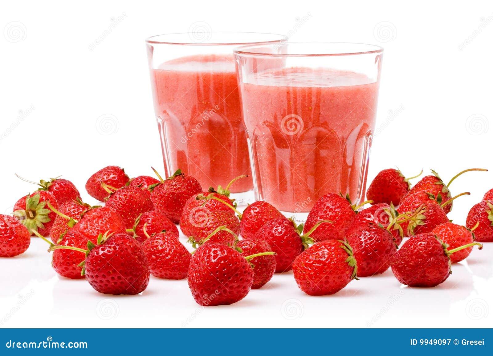Smoothie de la fresa