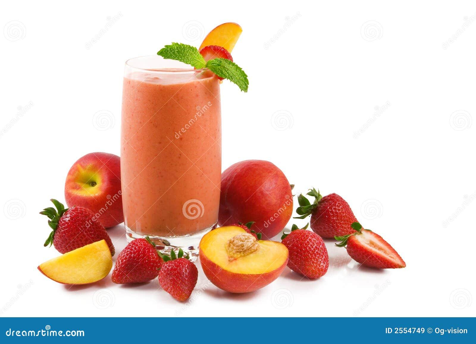 Smoothie do pêssego da morango