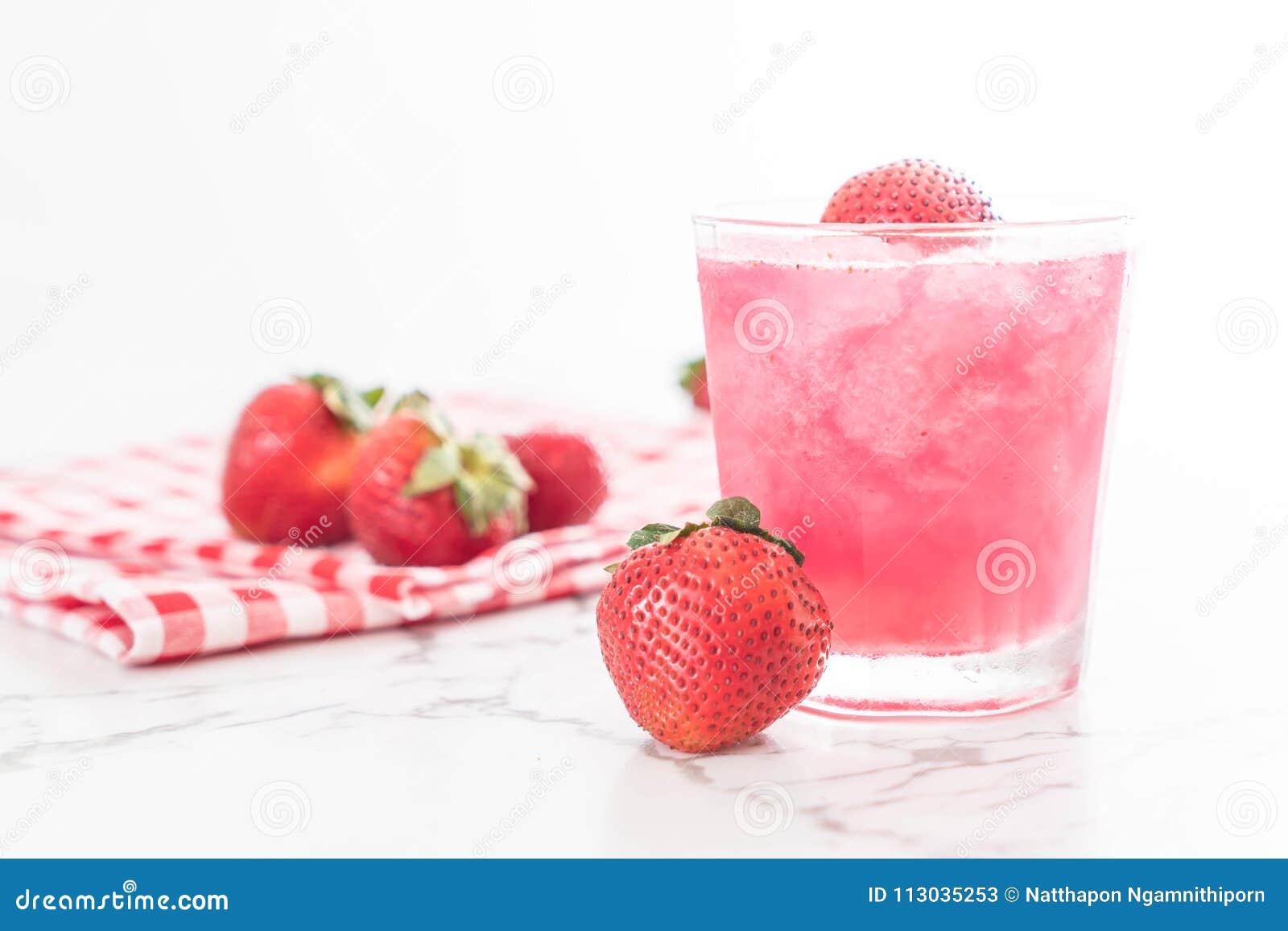 Smoothie fresco de la fresa