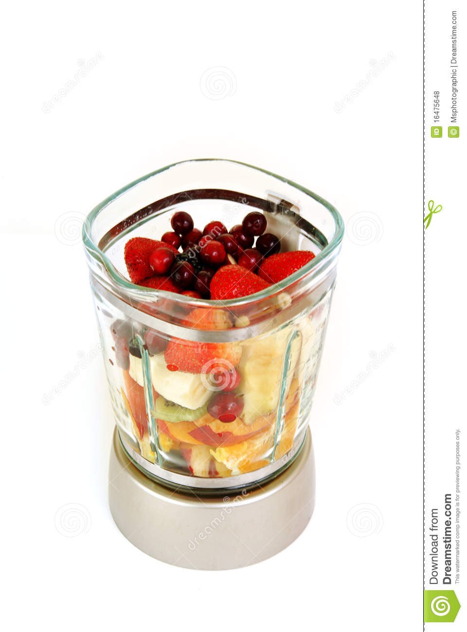 smoothie fruit in a blender royalty free stock photos image 16475648. Black Bedroom Furniture Sets. Home Design Ideas