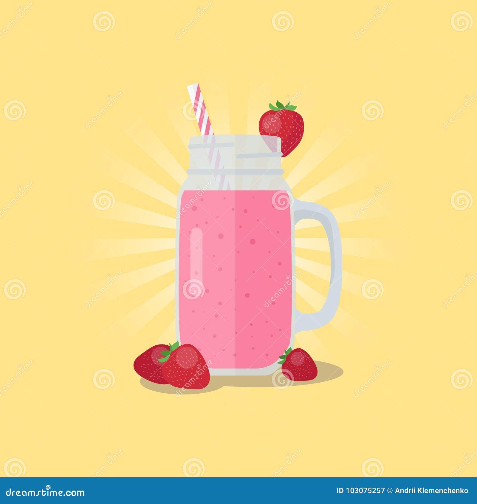 smoothie in a mason jar vector illustration banner stock vector