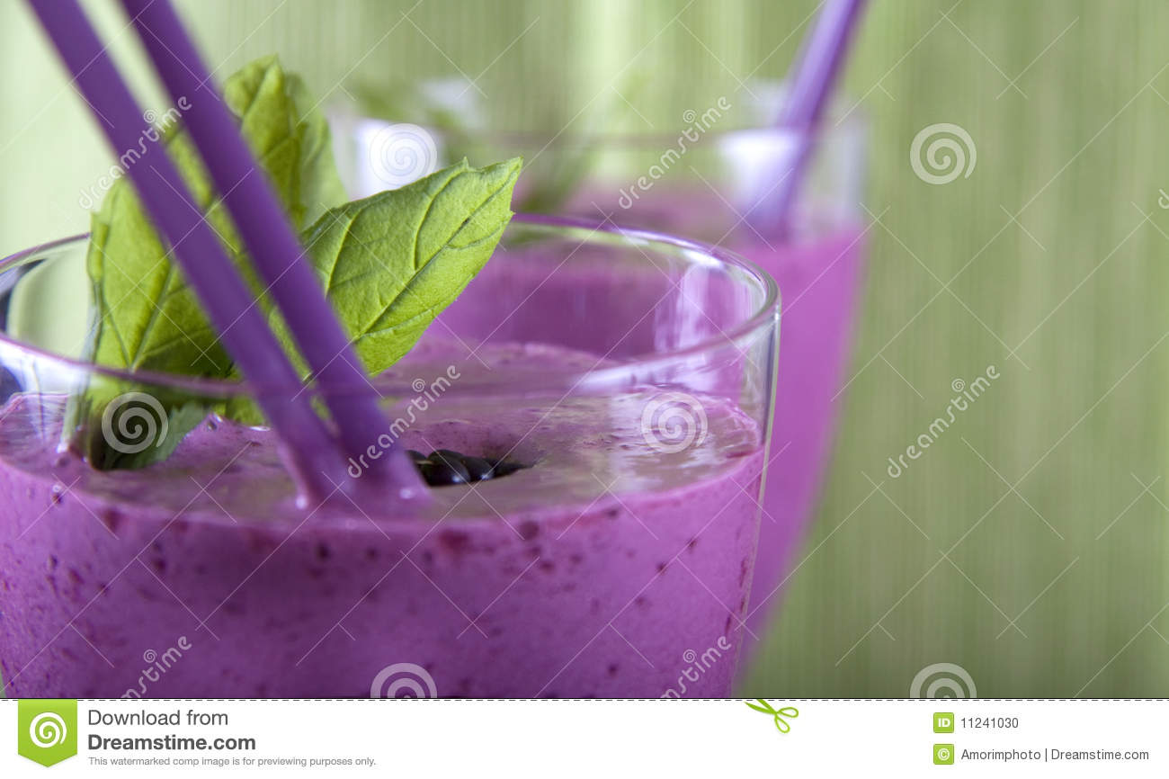 Smoothie With Strawberry, Mint And Blackberry Stock Photo - Image ...