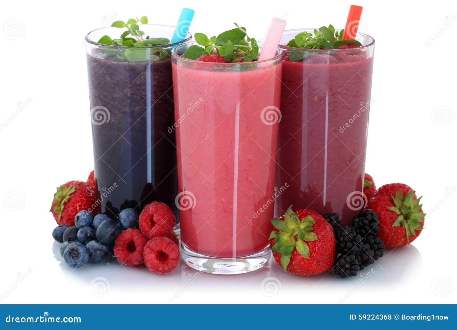 Smoothiefruktfruktsaft med isolerade frukter