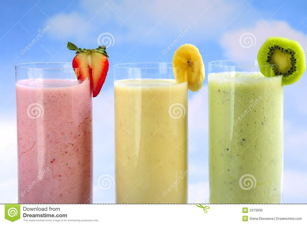 Smoothies assortis de fruit