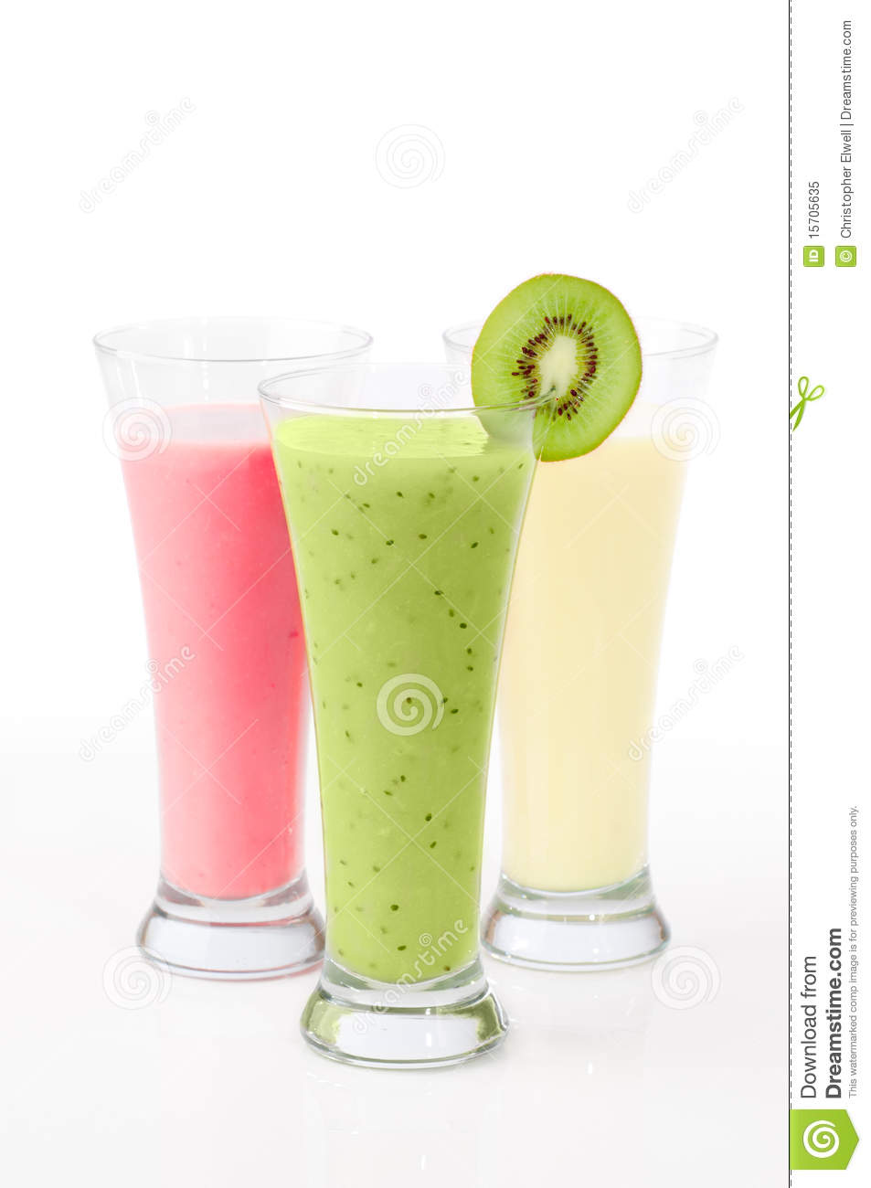 Smoothies de kiwi et de fruit
