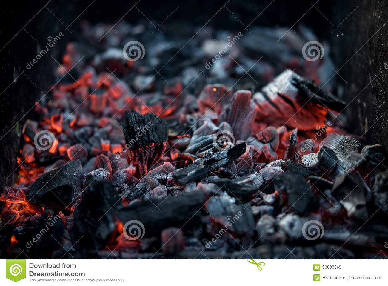 Charcoal smouldering material black mineral structure grill