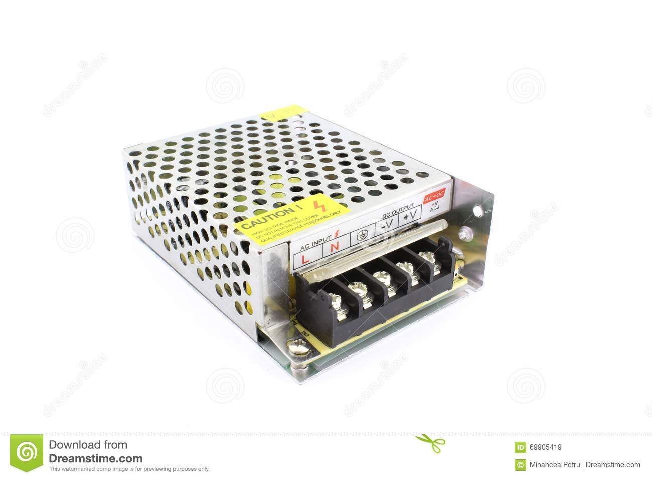 SMPS power supply stock image  Image of current, electronic - 69905419