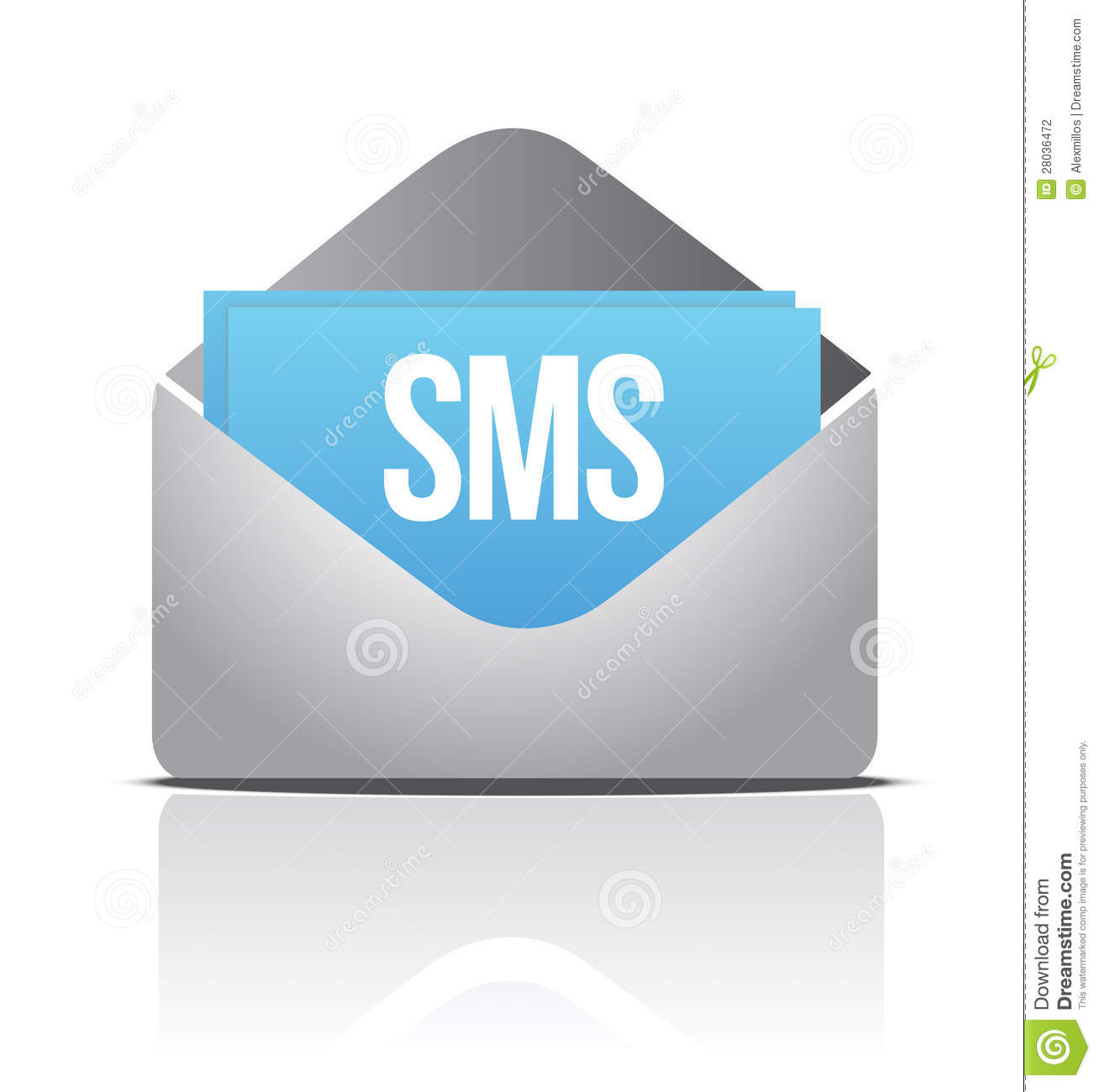 Sms Envelope Message Stock Photography Image 28036472