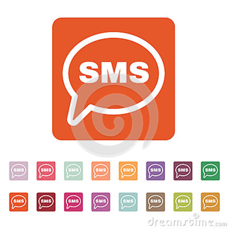 The Sms Icon Text Message Symbol Flat Stock Vector Illustration