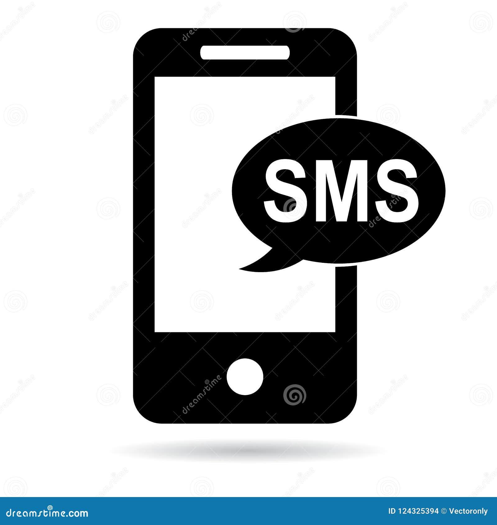 Sms icon black